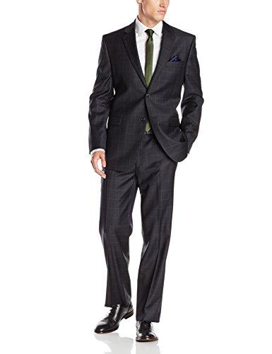 Donald Trump Men's Two Button Side Vent Windowpane Suit