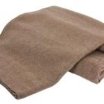 Creswick Australian Mills Hobart Machine Washable Australian Wool Blend Blanket, Twin, Hazel