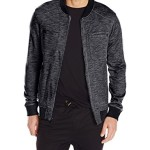 Calvin Klein Jeans Men's French Terrry Bomber Jacket, Black, Small