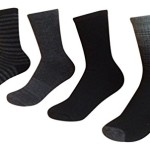 Kirkland Signature Womens Trail Sock Pack of 4 One Size Charcoal Heather Shoe Size 4-10