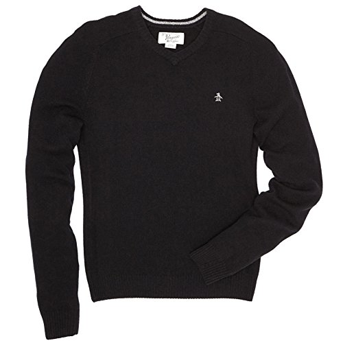 Original Penguin Men's P55 Lambswool V-Neck Sweater Pullover
