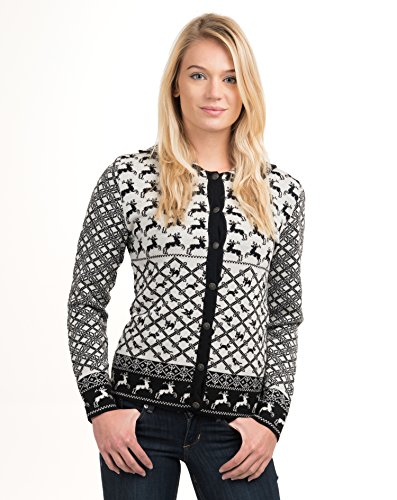 Vrikke Women's Norwegian Merino Wool Theresia Cardigan Sweater