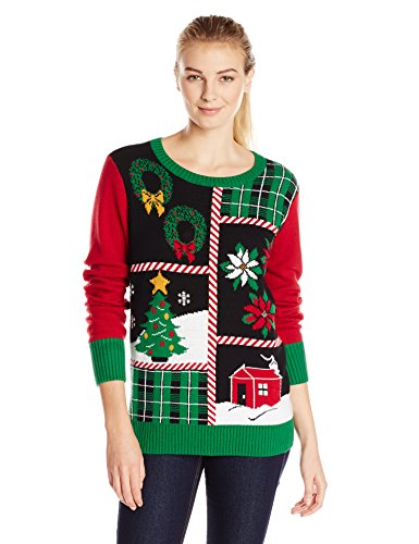 Ugly Christmas Sweater Women's Patchwork LIGHT-UP Sweater