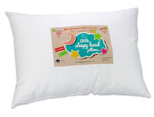 "Toddler Pillow 13 X 18 – Soft & Hypoallergenic – Made in USA – Better Sleep for Toddlers – Smooths Transition to 'Big Kid' Bed – Perfect for School Naps – Backed by Our ""Love the Fluff"" Guarantee"
