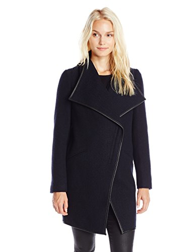 French Connection Women's Zippered Wool-Blend Coat