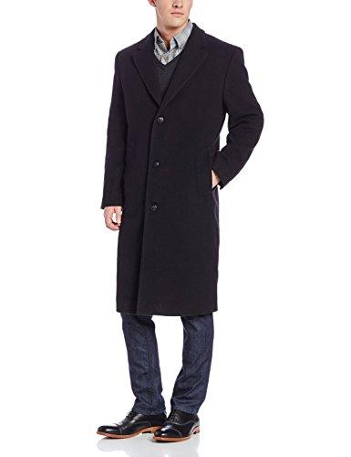 Michael Kors Men's Wool Single Breasted Full Length Topcoat