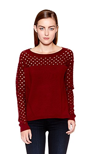 The Kooples Women's Merino Wool Sweater, Red