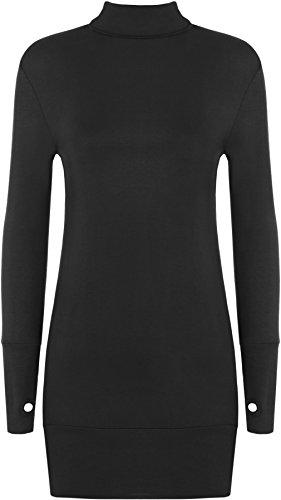 WearAll Women' BodyCon Polo Thumb Hole Dress Top