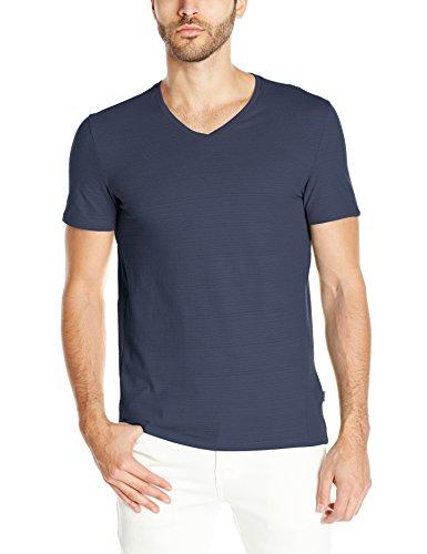Calvin Klein Men's Short Sleeve Solid Multicount, Navy Blazer, Medium