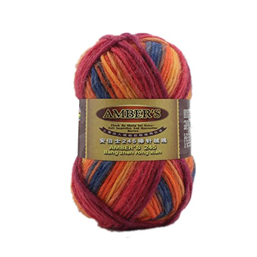 One Skien 100% Pure Wool Thick Economy Hand knitting Yarn 100g ,Multi-colored13