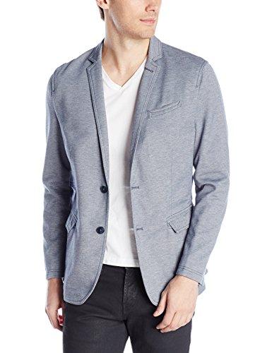 Calvin Klein Jeans Men's Pique Blazer, Night Sky Heather, Large