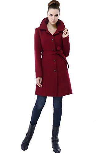 BGSD Women's 'Mallory' Wool Blend Long Melton Walking Coat