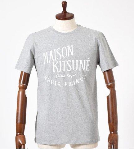 MAISON KITSUNE TEE SHIRT PALAIS ROYAL logo T-shirt Gray Size S
