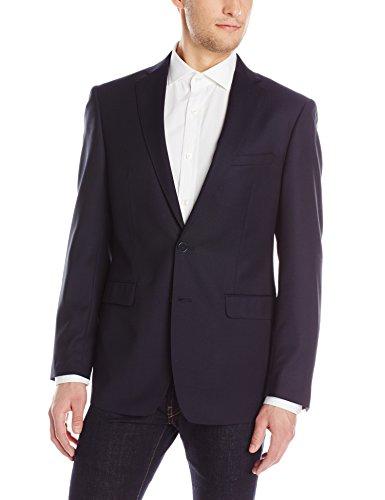 Calvin Klein Men's Melborn X Fit Navy 2 Button Side Vent Sport Coat, Navy, 44 Long