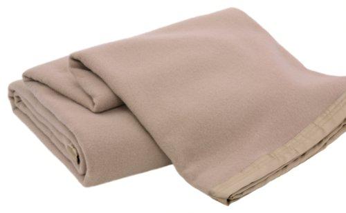 Creswick Luxurious All-Natural 100-Percent Australian Merino Wool Oversized Blanket, Full/Queen Size, Sahara