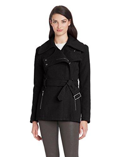 BCBGeneration Women's Zip-Front Wool Jacket With Belt