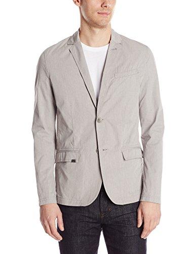 Calvin Klein Jeans Men's Melange Blazer, Light Grey Heather, X-Large