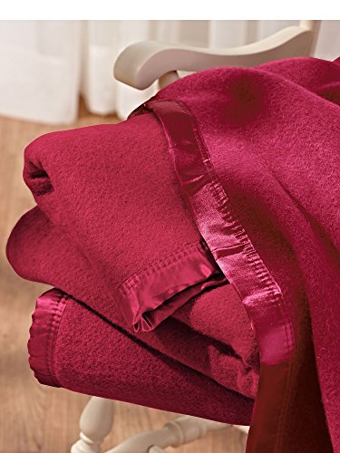 Washable Wool Blanket old-fashioned wool warmth Pure sheep¡¯s wool silky, satin trim all around