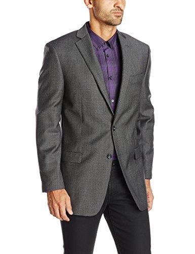Calvin Klein Men's 2 Button Slim Fit Sport Coat, Grey, 38/Regular
