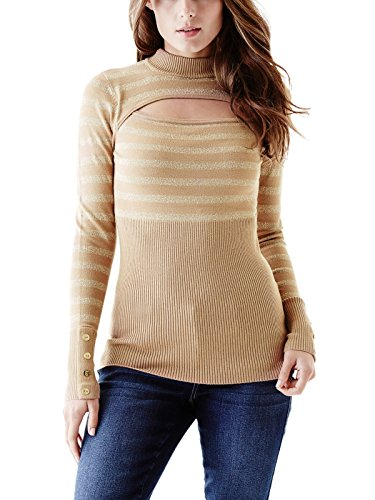 GUESS Women's Selima Striped Turtleneck Sweater