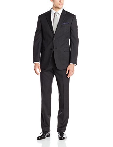Tommy Hilfiger Men's Charcoal Twill Suit