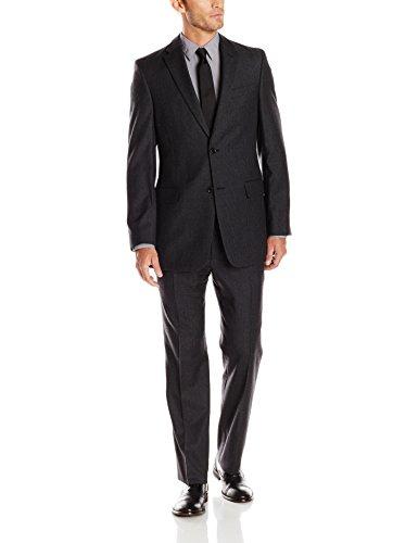 Tommy Hilfiger Men's Nathan Charcoal Stripe Two-Button Trim-Fit Suit