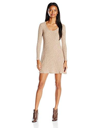 Eyeshadow Women's Longsleeve Rib Knit Sweater Dress