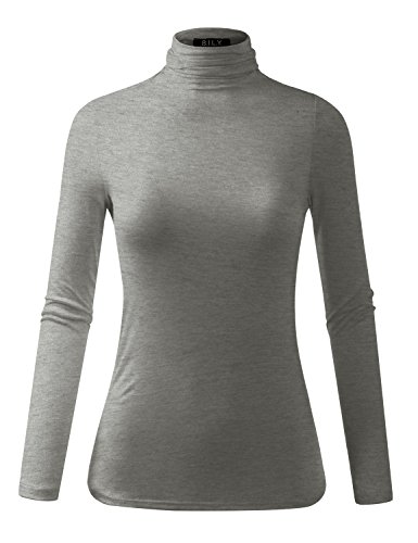 BILY Women's Comfortable Basic Lightweight Turtleneck Pullover Sweater