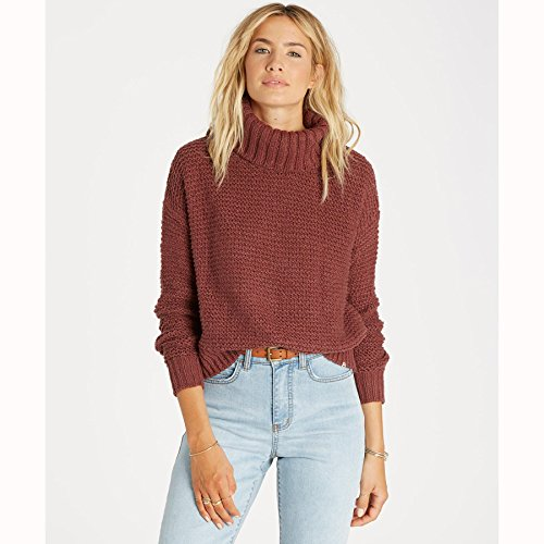 Billabong Women's Here We are Chunky Turtleneck Sweater