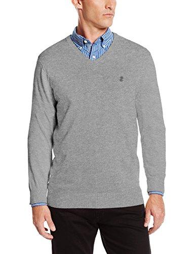 IZOD Men's Fine Gauge Solid Vneck Sweater