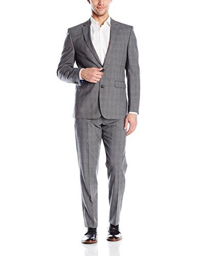 Vince Camuto Men's Grey Windowpane Suit