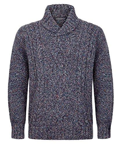 Mens Irish Wool Sweater, Made in Ireland, 100% Pure Irish Wool, Aran Sweater