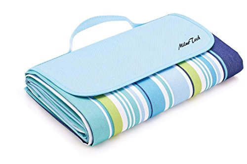 MiluoTech Foldable Large Picnic Blanket, Waterproof Beach Blanket Camping Mat for Outdoor, Hiking,Travelling – 60″ x 78″