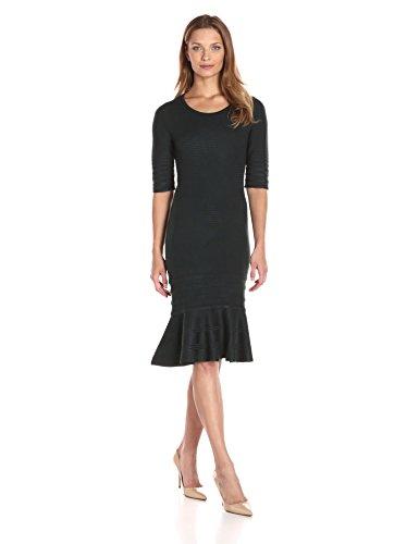 Ivanka Trump Women's Flounce Hem Sweater Dress