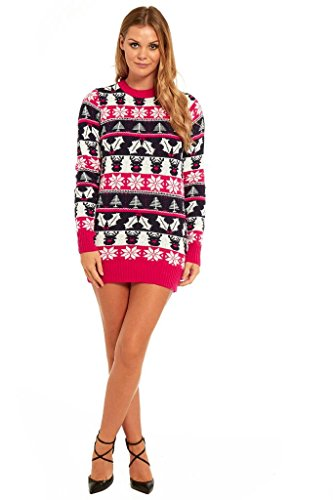 More Designs! Knitted Ladies Christmas Dress Womens Sweater Ugly/Funny Tunic Top by You Look Ugly Today