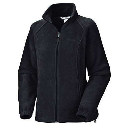 Columbia Women's Benton Springs Full-Zip Fleece Jacket (Black, 1X)
