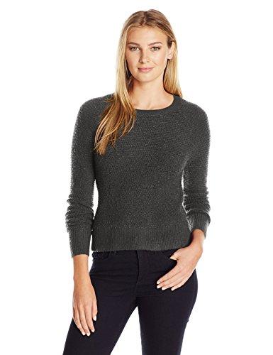 Lark & Ro Women's Cropped Crew-Neck Sweater