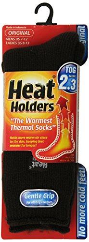 Heat Holders Thermal Socks, Men's Original, US Shoe Size 7-12, Earth Brown