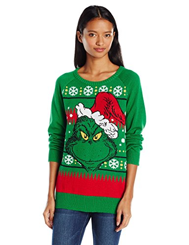 Hybrid Apparel Women's Dr. Seuss the Grumpy Grinch Christmas Sweater
