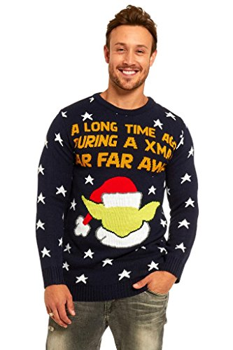 YOU LOOK UGLY TODAY Knitted Mens Christmas Sweater Ladies Jumper with Santa Reindeer Ugly/Funny Unisex top Jumper Yoda