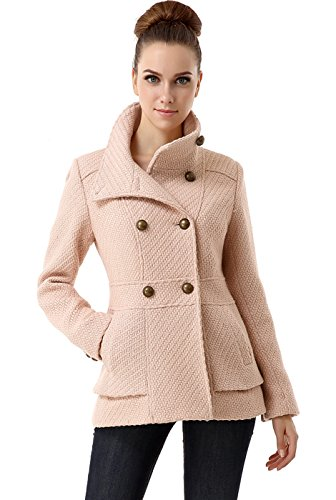BGSD Women's 'Cheri' Wool Blend Double Breasted Boucle Coat