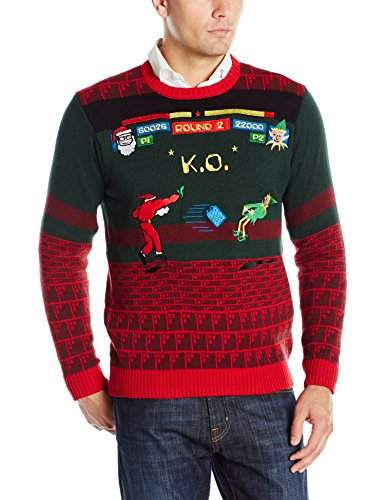 Blizzard Bay Men's Santa Street Fighter Ugly Christmas Sweater