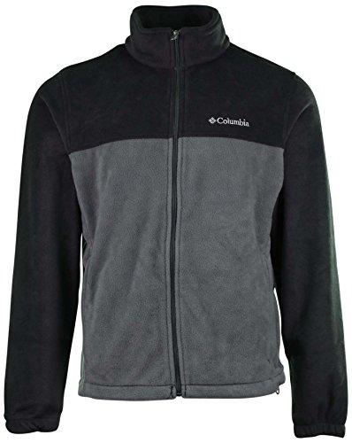 Columbia Mens Granite Mountain Fleece Jacket-Dark Gray/Gray-Large