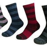 Kirkland Ladies' Trail Socks Pack of 4 Merino Wool Shoe Size 4-10 Black