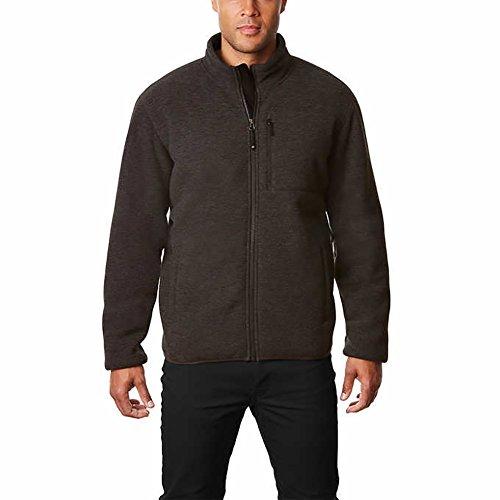 32 Degrees Men's Sherpa Lined Fleece Jacket, Gray – Medium
