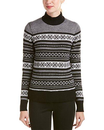 Brooks Brothers Womens Wool Sweater, M, Black