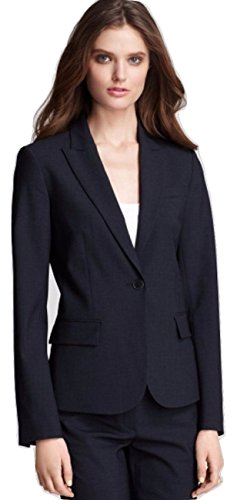 Theory Size 10 Gabe B Tailor Fitted Stretch Wool Blazer Jacket Indigo Blue Size 10