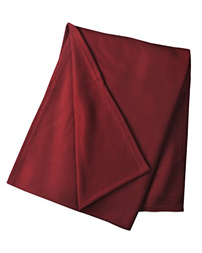 Luxor Linens – Fleece Throw Blanket – Lontano Line – Lightweight & Great for Picnics, Travel, Outdoor Activities or in the House – Available in in Various Sizes & Colors