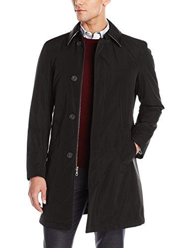 Calvin Klein Men's Marquez Slim Fit Single Breasted Trenchcoat, Black, 42 Long