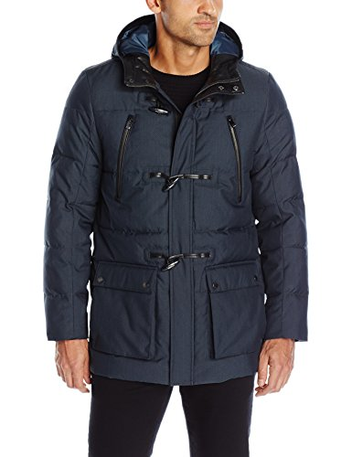 Calvin Klein Men's Padded Toggle Jacket, Officer Navy, SMALL